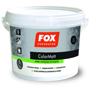 Fox Dekorator COLOR MATT 10L farba lateksowa do wnętrz
