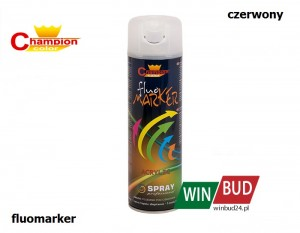 Champion color spray 400ml - fluomarker czerwony