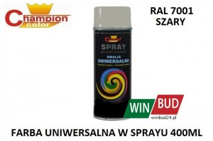 Champion color spray 400ml  - RAL 7001 szary