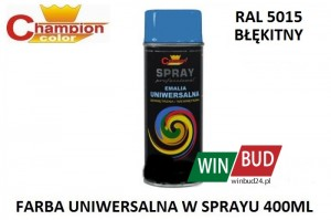Champion color spray 400ml  - RAL 5015 błękitny