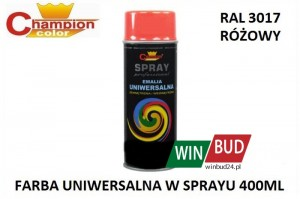 Champion color spray 400ml  - RAL 3017 różowy