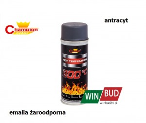 Champion color spray 400ml - High Temperature antracytowy